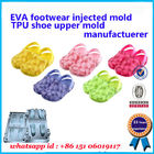 PCU PVC Children Slipper Mould Green Blue Red Customized Colors